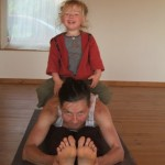 Yoga for kids at the Clare Island retreat centre