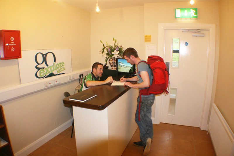 Go Explore Hostel Reception Mayo