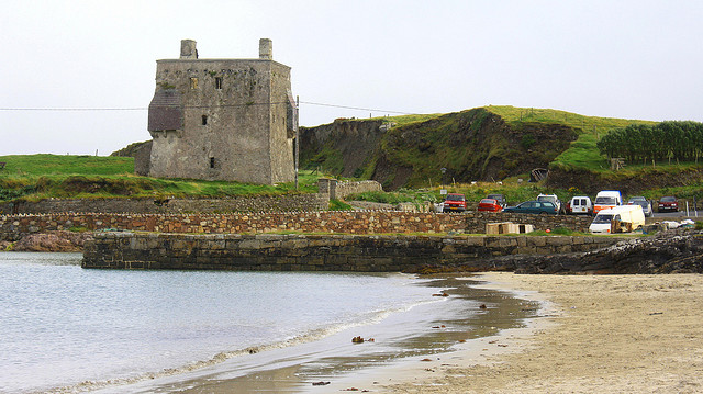 View of Grainuaile Castle from the beach